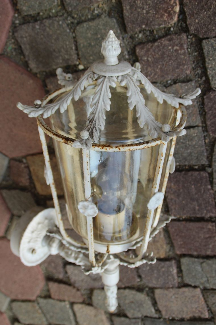 auslieger aussenlampe lampe shabby chic glasschirm 60cm wundersch n ebay. Black Bedroom Furniture Sets. Home Design Ideas
